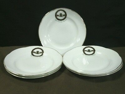 "(5)  Vtg. Royal Tara China ""The Claddagh Brooch""Scalloped Dessert Plates,Ireland"