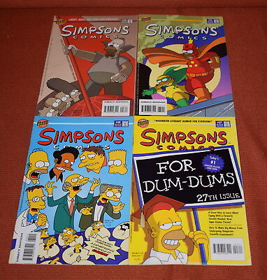 Small Lot of Bongo Simpsons Comics Graphic Novels - free UK postage