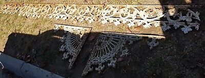 wrought iron late victorian, cast iron decorative lattice 6 pieces