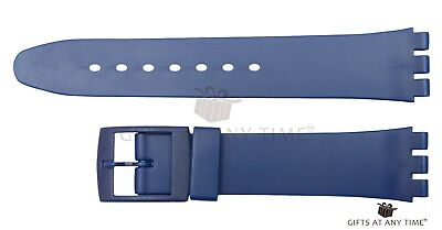 Replacement 17mm (20mm) Watch Strap for SWATCH - Blue Resin
