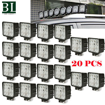 20X 48W Spot LED Off Road Work Light Lamp 12V 24V Car Boat Truck Jeep Square OFF