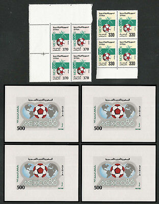 Syria, Complete Commemorative Year Sets 1986 in Blocks of 4, As Per Scan. MNH.