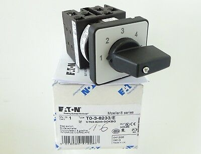 EATON T0-3-8233/E Stufenschalter Step Switch 1-6 Stufen 20A Klöckner Moeller OVP