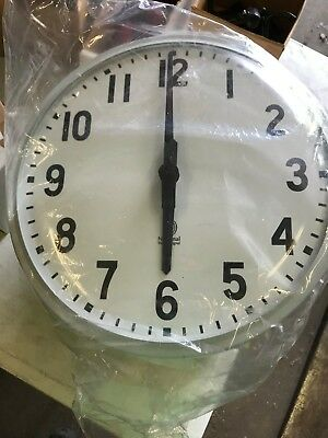"VINTAGE National Time 12"" SCHOOL WALL CLOCK FLUSH MOUNT"