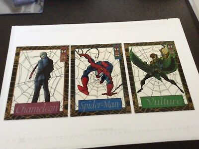 Lot of 3 1994 Fleer Spider-Man Suspended Animation Cards, Spider-Man, Vulture ++