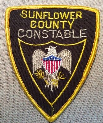 MS Sunflower County Mississippi Constable Patch