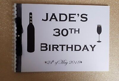 Personalised 18th/21st/30th/40th/50th/60th Birthday Guest Book