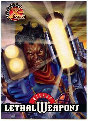Bishop #2 Of 9 X-Men Chromium Lethal Weapons Fleer Ultra 1995 Chase Card (C1402)