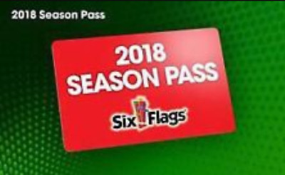 2018 SIX FLAGS Season Pass & FREE All Day Refillable Drink Bottle thru  12/31/18