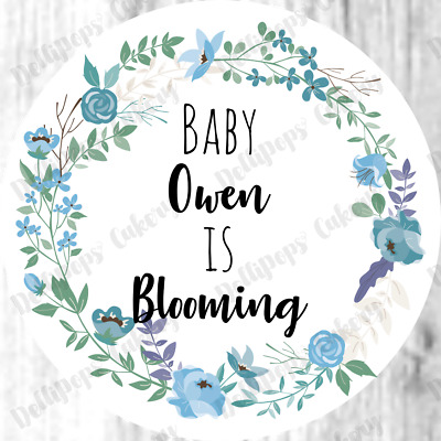 Personalised Boho Baby Shower Stickers Boy Favour Sweet Labels Party Bags