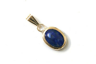 9ct Gold Sapphire Heart necklace Pendant no chain Gift Boxed UK Made
