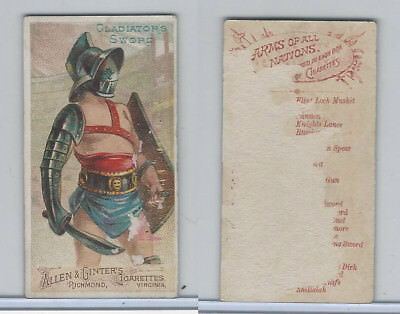 N3 Allen & Ginter, Arms of all Nations, 1887, Gladiator's Sword