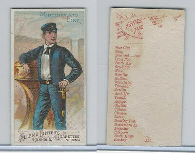 N3 Allen & Ginter, Arms of all Nations, 1887, Midshipsmen Dirk