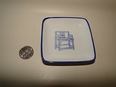 """Porcelain Chinese White & Blue Tang Sauce Plate Dish ~ Pier 1 ~ approx 3.5"""""""
