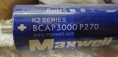 Maxwell Ultra Capacitor 2.7 Volts 3000F Farads Super Capacitors + BusBar + Nuts
