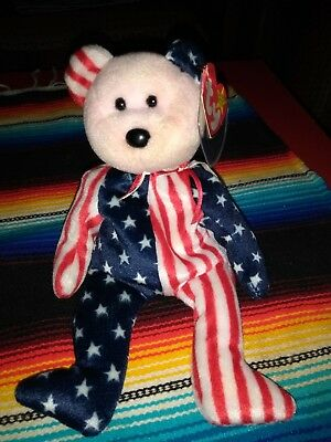 """""""Spangle"""" Retired TY Beanie Baby 1999 pink Face- Rare with Tag Errors"""