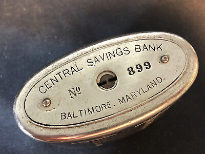 Old Vtg Key To Success Central Savings Bank Baltimore , Maryland No 899