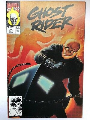 GHOST RIDER #13 (Marvel, 1991) MARK TEXEIRA PAINTED NEAR MINT (NM)