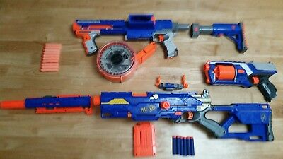 Nerf Elite Raider CS-35, Optic sight, Elite Longstrike CS-6 & Elite Strongarm
