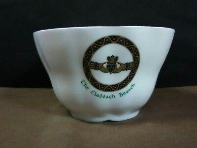 "Lovely Vtg. Royal Tara Fine Bone China Ireland""Claddagh Brooch"" Open Sugar Bowl"