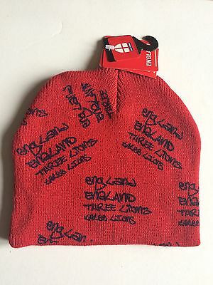 New England 3 Lions Beanie Hat - Red
