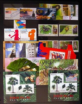 MALAYSIA 2009 Year Collection 12 Sets & 6 M/Sheets on 2 Pages U/M NJ682