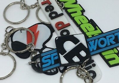 Company Logo Keyrings -Promotional Key Chains for your Business, Slogan / Mascot