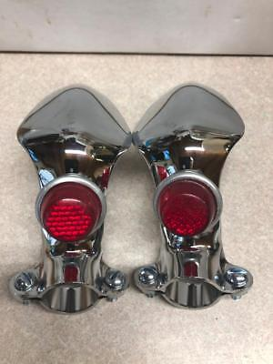 vintage NEW bicycle handlebar hand KNUCKLE GUARDS with REFLECTORS Shelby Schwinn