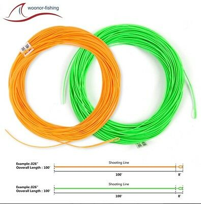 Shooting Line, Running line, Fliegenschnur, Fly-Line Orange oder Lime Green