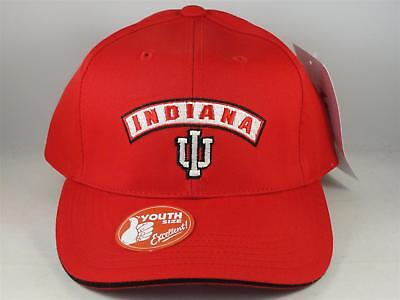 sports shoes 3538a e12ec Kids Youth Size Indiana Hoosiers NCAA Vintage Snapback Cap Hat Red