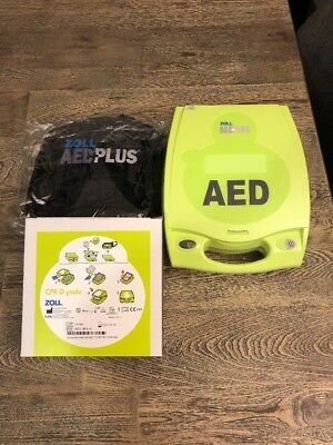 Zoll AED Plus-New, W/ CPR-D-Padz, Cover, Carry Case,