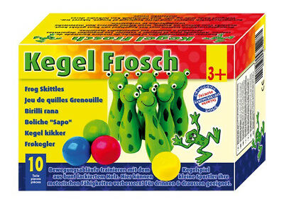 SMALL FOOT 8166 Kegel Frosch Kegelspiel
