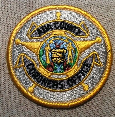 ID Ada County Idaho Coroners Office Patch (3In)