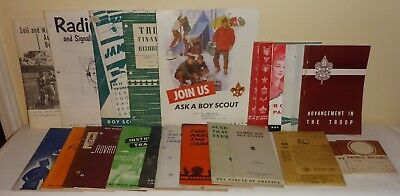 Large Lot Of Vintage Boy Scouts Of America Instruction Manuals & More