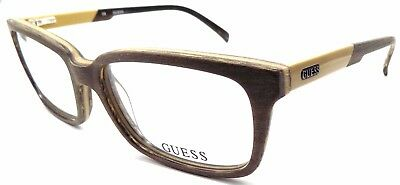 a369f798d6 GUESS GU1846 LBRN Men s Eyeglasses Frames 54-17-140 Textured Light Brown +  Pouch