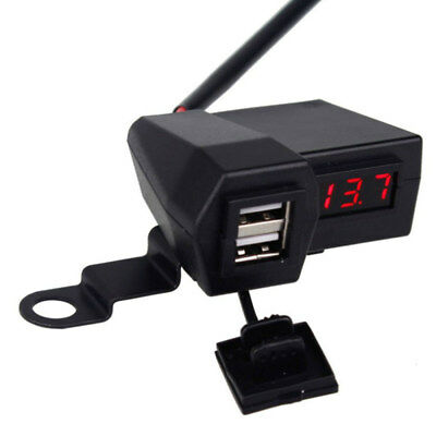 Four In One Multi Function Motorcycle USB Car Charger On Board Voltmeter