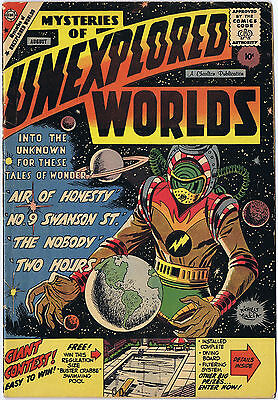 MYSTERIES OF UNEXPLORED WORLDS 14 Charlton Comics 1959 Science-Fiction Sci Fi