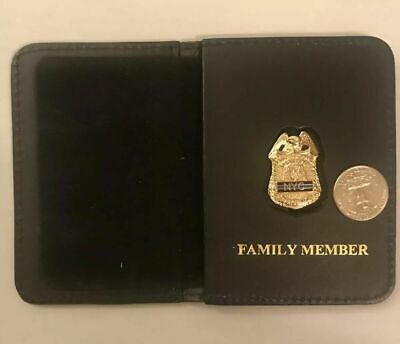 New York City Detective  Brother Thin Blue Line MINI  Shield  Wallet And ID