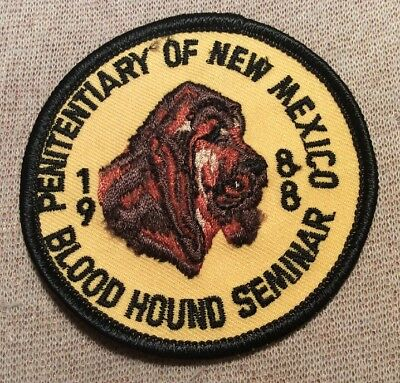 NM Penitentiary of New Mexico 1988 Blood Hound Seminar Patch (3In)