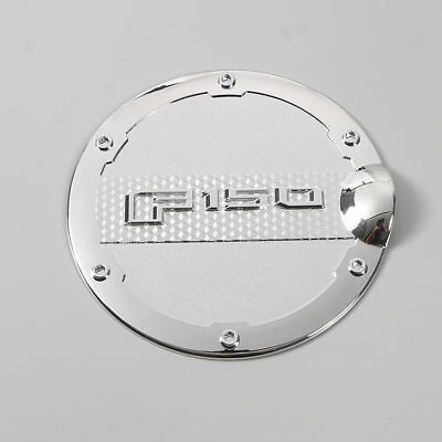 Chrome Gas Door Cover Fuel Tank Oil Cap Trim Silver For Ford F-150 F150 2015-18