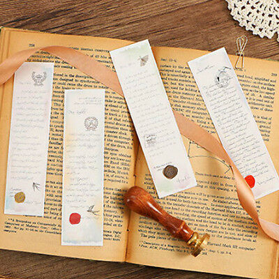 30x Letters Exquisite Boxed Bookmark Markers Message Card Supply Gift LG
