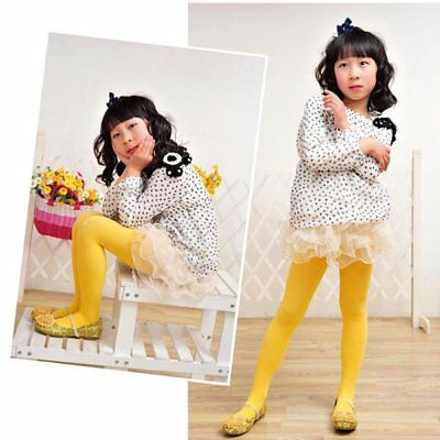 Multicolor Kid Girl Velvet Trousers Tights Toddler Child Pantyhose Stocking 5-9Y