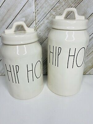 Rae Dunn Hip Hop Canister SET New Large Letters LL Easter Spring 2018