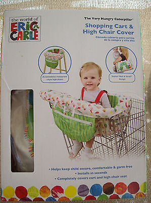 Eric Carle High Chair Cover Shopping Cart The Hungry Caterpillar NEW Multi-Color