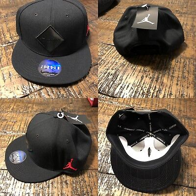 detailed look 0fb86 e4445 Jordan Unisex Jumpman True Aj 9 Cap Snapback Hat Cap Black Gym Red  894672-010