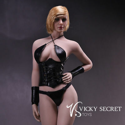 DIY 1/6 TBLeague Female Seamless Stainless Body+Kumik Head+Corset Underwears Set