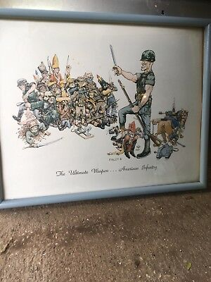 """GEORGE FINLEY Military Art Print """"The Ultimate Weapon...American Infantry Rare"""