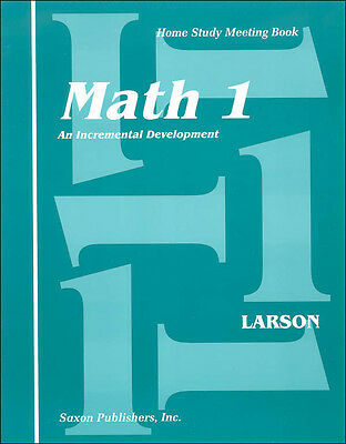 Grade 1 Saxon Math Home Study Meeting Book Homeschool Student Edition 1st