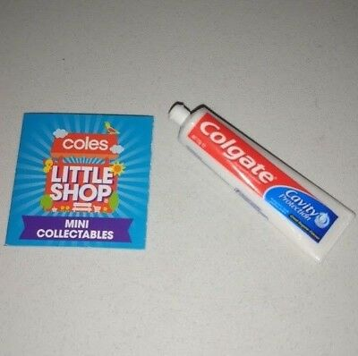 Coles Little Shop - Colgate Cavity Toothpaste Tooth Mini Collectable Toy NEW