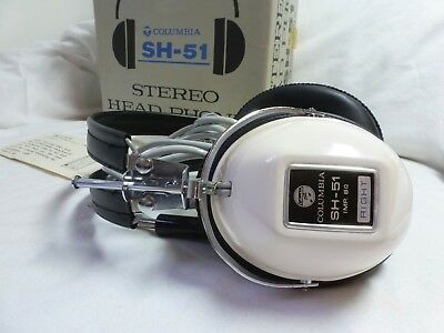 Vintage Columbia Stereo Headphones Model SH-51 With Original Box!